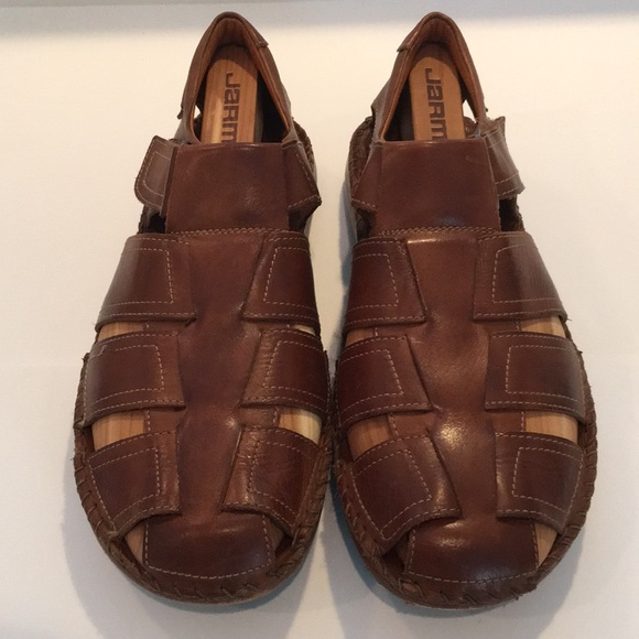 Tarifa Brown Leather Sandals Size